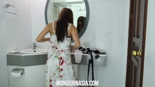 Sexy Skinny Filipina Maid Will Do Anything to Get Hired!