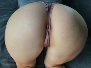 Young student with a giant ass gets fucked in doggy style in the campus