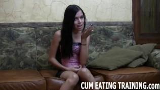 CEI Femdom Fetish And POV Cum Feeding Porn