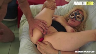 ScambistiMaturi – Busty Newbie Italian Mature Hardcore Pussy Fuck With Horny Guy – AMATEUREURO