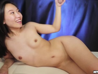 Petite Asian Teen Babe Enters the Mylked Zone - Sensual Handjob and Cock Milking