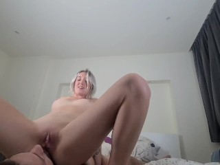 She spreads her legs on my face and I lick her wet dripping pussy