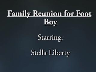 Reunion for Footboy Stepcousin - Stella Liberty - Foot Fetish Femdom POV Humiliation Feet JOI MILF
