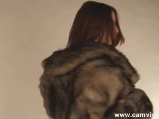 Fur Coat And Rough Sex Boots Mean Some Exciting Hot Solo FunI love to try different outfits out and to see