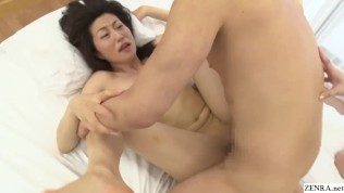 Japanese AV behind the scenes huge group of wives watches threesome performance