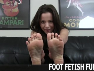 Foot Fetish Femdom And POV Toe Sucking Porn