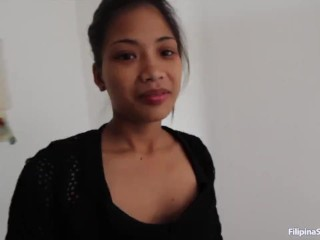 Asiansexdiary Perky Tit Filipina Tries Big Cock