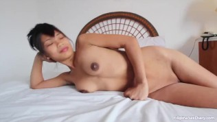 Asiansexdiary Perky Tit Filipina Tries Big Cock