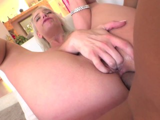 Pervcity Blonde slut gets her ass fucked and gaped by Michael Stefano