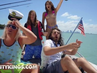 Reality Kings - Beautiful Angela White And Her Friends Sloan Harper Sofie Reyez & Xander Corvus Have A Amazing Boat Ride