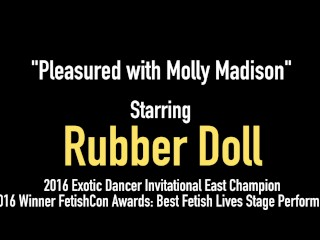 Busty Beauty RubberDoll Sex Toy Drills Her Wet Clone Molly!