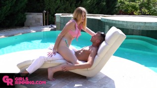 GIRLSRIMMING – Dirty rimjob with hot Spanish teen Paola Hard