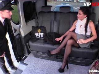 FuckedInTraffic - Eveline Dellai Seductive Czech Teen Risky Public Fuck With Taxi Driver