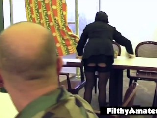 I fuck the maid in the ass after the service