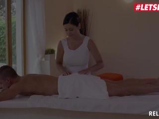 Relaxxxed - Big Tits Czech Teen Alex Black Rides Big Cock on Massage Table - LETSDOEIT