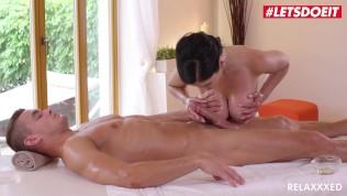 Relaxxxed – Big Tits Czech Teen Alex Black Rides Big Cock on Massage Table – LETSDOEIT