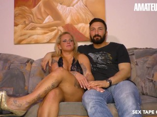 SexTapeGermany - Newbie German MILF Makes A Porn Scene With Her Horny Husband - AMATEUREURO