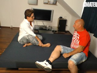 XXXOmas - Fat Ass German Mature Hardcore Afternoon Fuck With Her Naughty Husband - AMATEUREURO