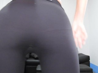 Blonde Babe Sweaty Workout/Dance In Tight Yoga Pants