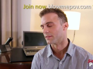 Blow me POV - Bad Girl Try To Convince Her agent probation