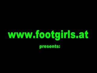 lesbian feet worship between asian and brunette babe