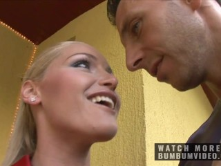 BLONDE AND HOT GIRL FUCK AND RIDES GIANT COCK AFTER PARTY