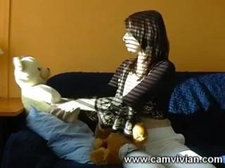 Pussy Masturbation Fun With Teddy BearsLittle girls love their teddy bears, and big girls are
