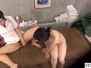 Nude Lesbian Therapeutic massage in Japan Vaginal Drive Coaching Demonstration for Busty Shopper