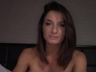 Horny big tits MILF Silvia Sage swallows a big hard cock - POV