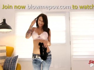 Blow me POV - She Like To Blow Her Boyfriend