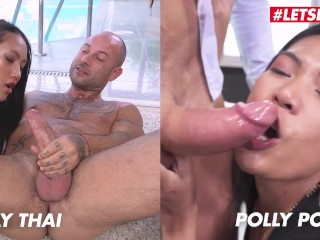 May Thai VS Polly Pons - Two Asian Sluts Hardcore Ass Fucking Orgasms! Compilation - Who Gets Gaped Better?