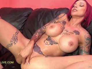 ANNA BELL PEAKS TATTOOED SEX GODDESS with PERFECT PINK PUSSY & MATCHING HAIR EPIC SQUIRTING FUCK FEST! – Part 5
