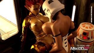 3d animated scifi futa babes having hardcore sex