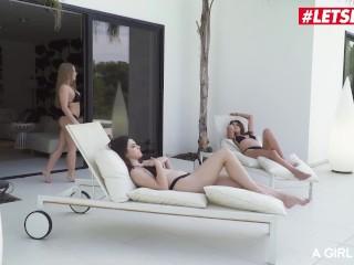 AGirlKnows - Alessandra Jane Sexy Russian Babe Hardcore Lesbian Threeway By The Pool - LETSDOEIT