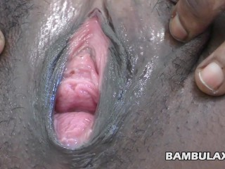 Young black cunt close up