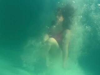 Russian underwater big tits teen Rusalka