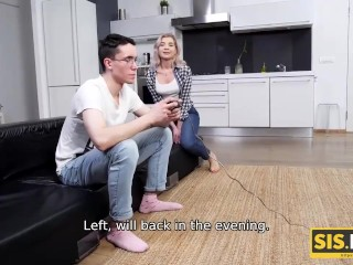 SIS.PORN. Girl scuttles stepbrother's plans but receives cock deep down the depths of muff