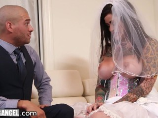 Cheating Bride Gets Pounded Roughly By The Best Man
