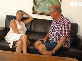 XXXOmas - Dirty German Granny Fucked In Her Old Pussy By Horny Grandpa