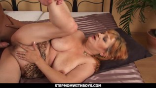 Stepmom With Boys Golden Age Stepmom Handles Young Aged Cock