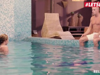 Relaxxxed - Angel Blade Big Ass Hungarian Beauty Intense Romantic Sex With Trainer At The Pool - LETSDOEIT