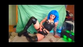 Latex Femdom with Strapon PMV compilation webcam