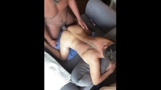 Porn Gay XXX  Hung Big Black Dick Uses Little White Twinks Hole !