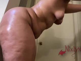 PAINFUL ANAL FAT ASS LATINA THROWING IT BACK ON WALL DILDO