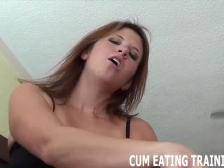 POV Cum Feeding And CEI Domination Porn