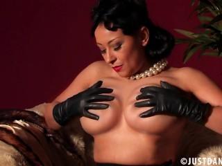 Danica Collins Attractive Striptease