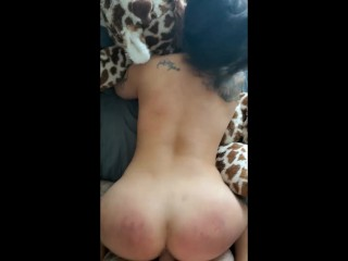 Butt/big dick/stepdaddy fucks stepdaughter after spankings