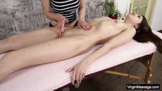 Two lesbian hot babes on virgin massage