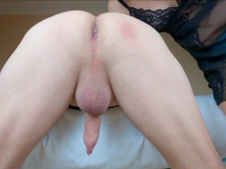 Pegging with prostate massage and passionate rimming till huge cumshot. She love eat and lick my ass