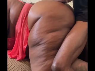 BLACK BBW FUCKS A BIG DICK DOGGYSTYLE (Ebony BBW Fucks BBC) @1macmillion
